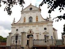 Corpus Christi kościół w NESVIZH, BIAŁORUŚ Fotografia Royalty Free