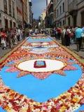 Corpus Christi kwiatu dywany, Tenerife, wyspy kanaryjska, Hiszpania Zdjęcie Royalty Free