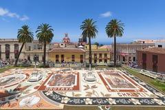 Corpus Christi, La Orotava, Tenerife, Spain - June 11, 2015. Plaza del Ayuntamiento, in La Orotava, Tenerife, Canary Islands, Spain – June 11, 2015: the Royalty Free Stock Images
