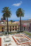 Corpus Christi, La Orotava, Tenerife, Spain - June 11, 2015. Plaza del Ayuntamiento, in La Orotava, Tenerife, Canary Islands, Spain – June 11, 2015: the Royalty Free Stock Image