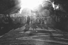 Corpus Christi procession. In rural Brazil royalty free stock photos