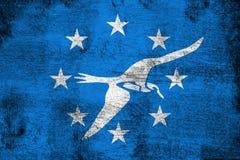 Corpus Christi rostiga texas och grungeflaggaillustration vektor illustrationer