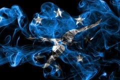 Corpus Christi-Stadt-Rauchflagge, Texas State, Vereinigte Staaten von morgens Lizenzfreies Stockfoto