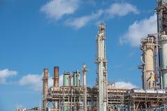 Corpus Christi van de de wolken het blauwe hemel van de olieraffineermachine, Texas, de V.S. Royalty-vrije Stock Afbeelding