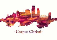 Corpus Christihorisont i rött stock illustrationer