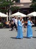 Corpus Christiprocessionarna i Krakow Polen är varje år i Maj arkivfoton