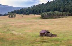 Corra abajo de cabina en Colorado Foto de archivo libre de regalías