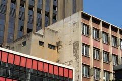 Corra abajo de edificios en el distrito financiero central, Johannesburgo, Suráfrica Fotografía de archivo libre de regalías