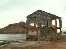 Corra abajo de la cabaña Baja California Sur, México del edificio Fotografía de archivo libre de regalías