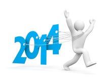 Corra al Año Nuevo Foto de archivo