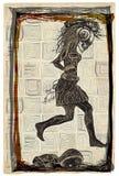Corra el punky, funcionamiento - un vector dibujado mano, bosquejando a pulso stock de ilustración