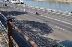 Corra a la salida en Budapest fotografía de archivo libre de regalías