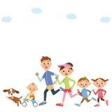 Corra nas famílias ilustração stock