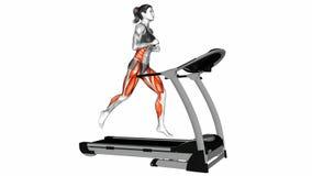 Corra no exercício de escada rolante vídeos de arquivo