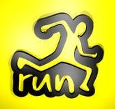 Corra o símbolo Imagem de Stock