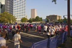 Corra per l'evento di Portland Oregon di consapevolezza della cura Fotografie Stock