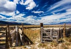 Corral abandonado de Lifestock Fotografía de archivo