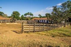 corral Braziliaans Landbouwbedrijf stock afbeelding