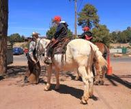 Corral de mule au canyon grand : L'aventure commence photos stock