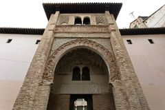 Corral del Carbon in Granada, great treasure of the Moorish peri. Od, Andalusia, Spain Royalty Free Stock Images