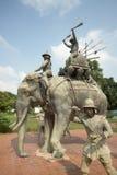 CORRAL DEL ELEFANTE DE ASIA TAILANDIA AYUTHAYA Imagen de archivo libre de regalías