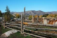 Corral en bois photographie stock libre de droits