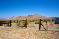 Corral Entrance in the Desert Stock Photography