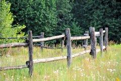 Corral fense w łące zdjęcie stock