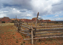 Corral at Homestead on Ghost Ranch, New Mexico Stock Images