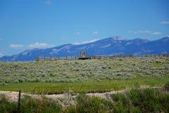 Corral and Mountains near Dillion, MT Stock Photos