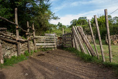 Corral. Old corral in the forest Royalty Free Stock Images
