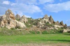 Corral pour des chevaux dans les montagnes de Cappadocia photos stock