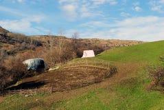 Corral for sheep. Empty corral for the sheep, Shar mountain Kosovo Stock Photo