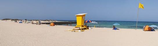 Corralejo,费埃特文图拉岛,加那利群岛,西班牙 免版税库存图片