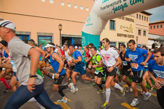 CORRALEJO - 03 NOVEMBER: Fuerteventura helft-marath-half Stock Foto's