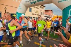CORRALEJO - 03 NOVEMBER: Fuerteventura helft-marath-half Stock Afbeeldingen