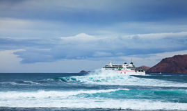 CORRALEJO, 27 APRIL - sea ferry Royalty Free Stock Image