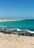 Corralejo Beach on Fuerteventura Stock Image