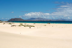 Corralejo Beach on Fuerteventura Stock Photo