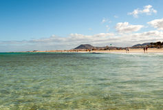 Corralejo Beach on Fuerteventura Stock Photos