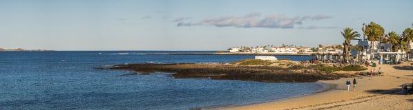 Corralejo coastline and resorts Royalty Free Stock Photo