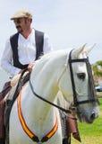 CORRALEJO, ESPAÑA - 28 DE ABRIL: Demostración del caballo Foto de archivo libre de regalías