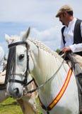 CORRALEJO, ESPAÑA - 28 DE ABRIL: Demostración del caballo Imagenes de archivo