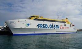 The HSC Bocayna Express catamaran Fred. Olsen Royalty Free Stock Image