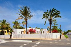 Corralejo, Fuerteventura, Canary islands, Spain, street during siesta Royalty Free Stock Images