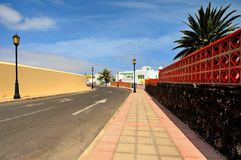 Corralejo, Fuerteventura, Canary islands, Spain, street during siesta Royalty Free Stock Photo