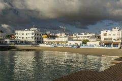 Corralejo-Hafen Stockfoto