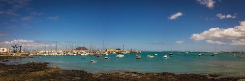 Corralejo harbour panorama Stock Photos