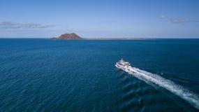 06,04,2018 corralejo: maritime transfer service from fuerteventu Royalty Free Stock Photo