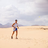 CORRALEJO - OCTOBER 30:  Runners Stock Image